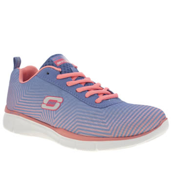 Womens Skechers Lilac Equalizer Expect Miracle Trainers