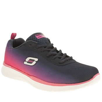 Skechers Navy Equalizer Perfect Pair Trainers