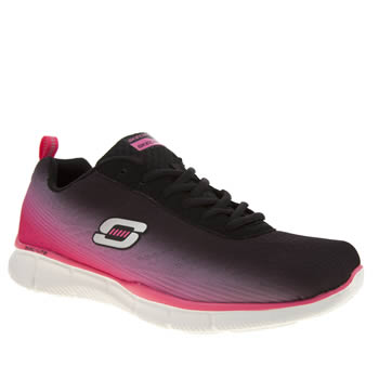 Skechers Black & pink Equalizer Perfect Pair Trainers