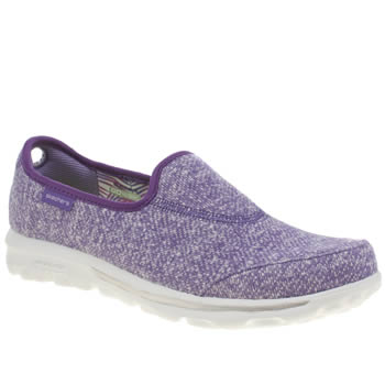 Womens Skechers Purple Go Walk Snapshot Trainers
