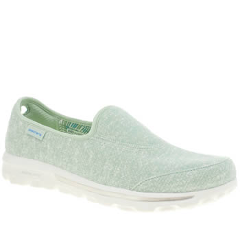 Skechers Light Green Go Walk Snapshot Trainers