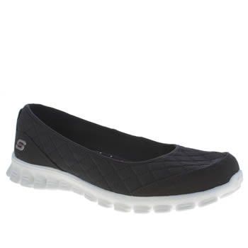 Skechers Black & White Ez 2 Spruced Up Womens Trainers