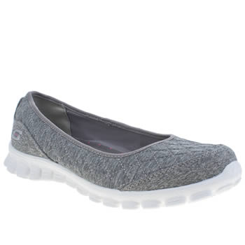 Womens Skechers Grey Ez 2 Spruced Up Trainers