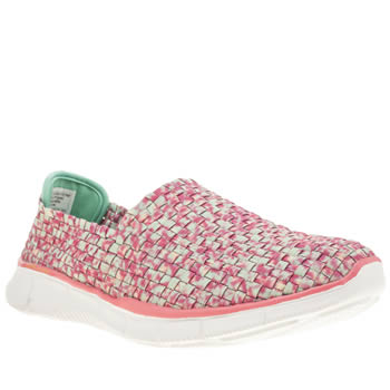 Skechers Pale Pink Equalizer Vivid Dream Trainers