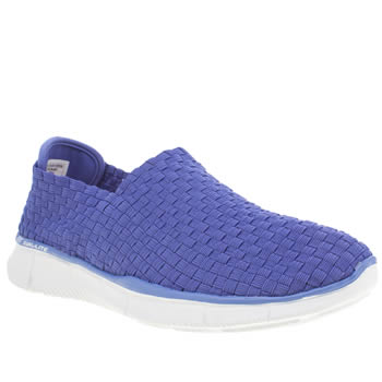 Womens Skechers Blue Equalizer Dream On Trainers