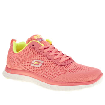 Womens Skechers Pink Flex Appeal Obvious Choice Trainers