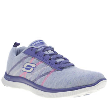 Skechers Lilac Flex Appeal Miracle Work Trainers