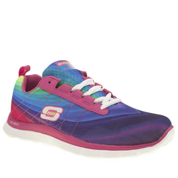 Womens Skechers Pink Flex Appeal Pretty Please Trainers