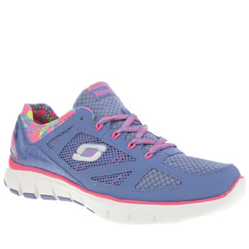 Womens Skechers Purple Ultimate Reality Trainers