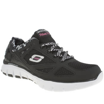 Skechers Black & White Ultimate Reality Trainers