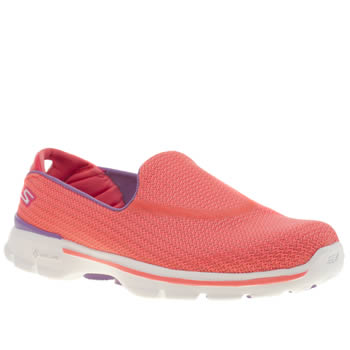 Womens Skechers Pink Go Walk 3 Trainers