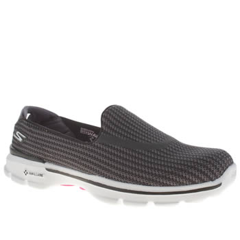 Skechers Black & White Go Walk 3 Trainers