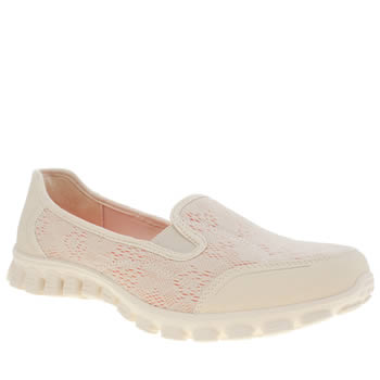 Womens Skechers Natural Ex Flex 2 This Kiss Trainers