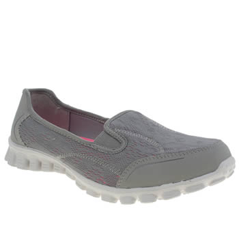 Womens Skechers Light Grey Ez Flex 2 This Kiss Trainers