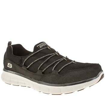 Skechers Black & White Synergy Sparkle & Shine Trainers