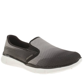 Skechers Black & Grey Equalizer Space Out Trainers