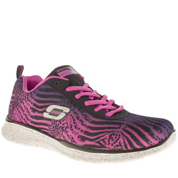 Skechers Purple & Pink Equalizer Surf Safari Trainers