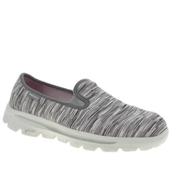 Womens Skechers Grey Go Walk Move Obscure Trainers