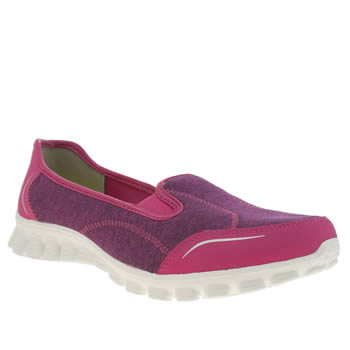 Womens Skechers Pink Ez Flex 2 Encounter Trainers