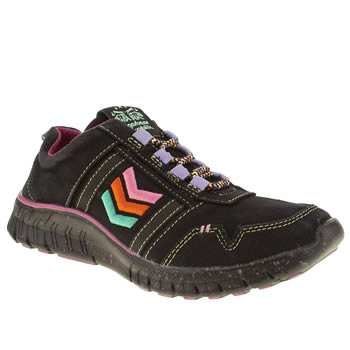 womens tigerbear republik black & pink wolfstar trainers