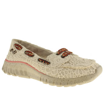 womens tigerbear republik natural wolfie crochet trainers