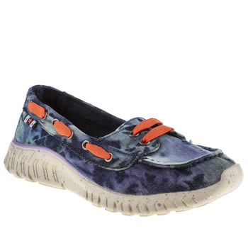 Womens Tigerbear Republik Navy & Pl Blue Wolfie Milkyway Trainers
