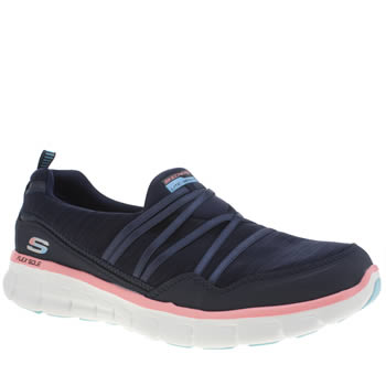 Skechers Navy & White Synergy Scene Stealer Trainers
