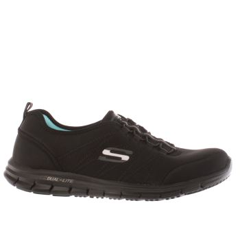 SKECHERS BLACK GLIDER ELECTRICITY TRAINERS
