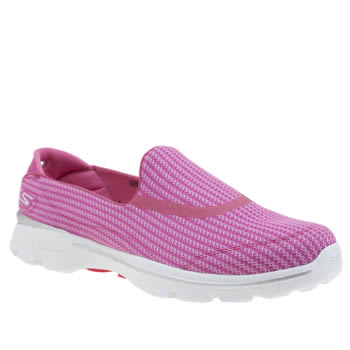 Skechers Pink Go Walk 3 Womens Trainers