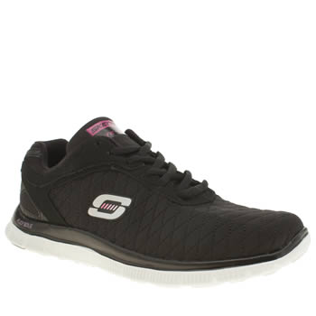 Skechers Black & White Flex Appeal Eye Catcher Womens Trainers