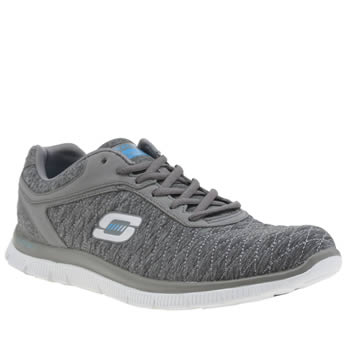 Skechers Grey Flex Appeal Eye Catcher Trainers