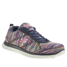 Skechers Navy & White Flex Appeal Whirl Wind Womens Trainers