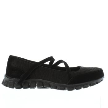 Skechers Black Ez Flex 2 Seeking Love Womens Trainers