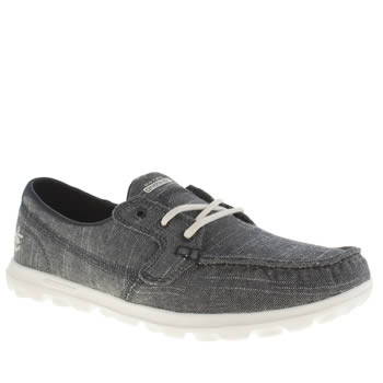 Skechers Navy & White On The Go Mist Womens Trainers