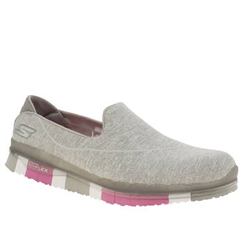 Skechers Light Grey Go Flex Trainers