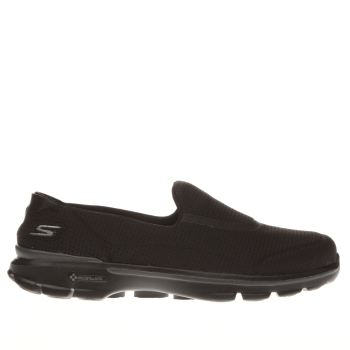 Skechers Black Go Walk 3 Unfold Womens Trainers