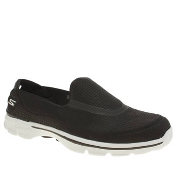 Skechers Black & White Go Walk 3 Unfold Trainers