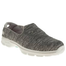 Skechers Grey Go Walk 3 Renew Womens Trainers