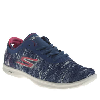 Skechers Navy & White Go Step One-off Trainers