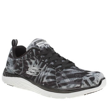 Skechers Black & White Valeris Mai Tai Trainers