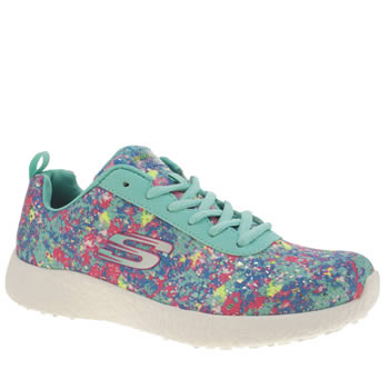 Womens Skechers Multi Burst Illuminations Trainers