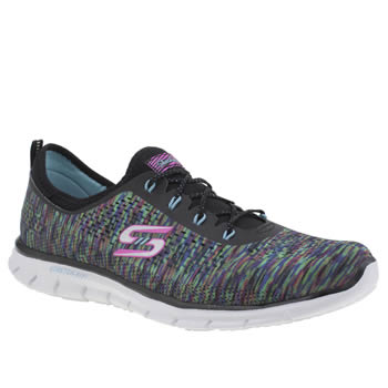 Skechers Black and blue Glider Deep Space Womens Trainers