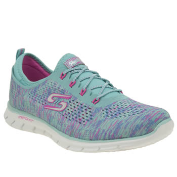 Skechers Turquoise Glider Deep Space Womens Trainers