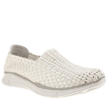 Skechers White Skech Equalizer Night Sky Trainers