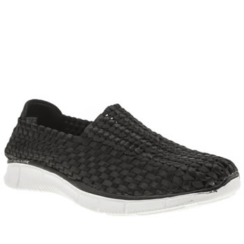 Skechers Black & White Equalizer Night Sky Trainers