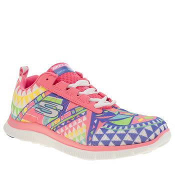 Skechers Pink Flex Appeal Demi Lovato Trainers