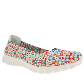 Womens Skechers Multi Ez Flex 2 Beatrix Trainers