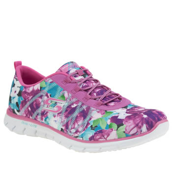 Skechers Pink Glider Posies Trainers