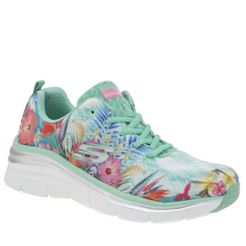 Skechers Turquoise Fashion Fit Spring Essential Womens Trainers