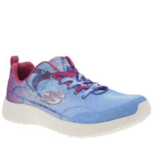 Skechers Pale Blue Burst Life In Color Womens Trainers